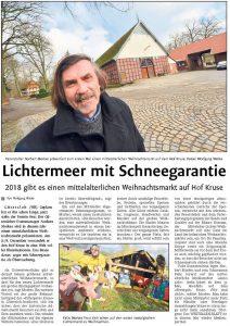 Westfalenblatt berichtet bereits über ANNO EVENTS wünscht frohe Ostertage. Wyhnacht 1280